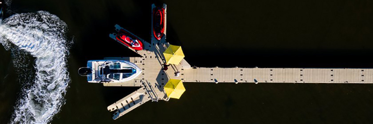 overhead view of ez-dock